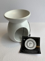 White Ceramic Wax Burner,  by Freckleface Home Fragrance