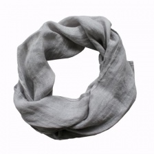 Pure grey linen, boxed scarf by Biggie Best