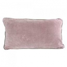 Mushroom Pink velvet rectangular, breakfast cushion by Raine & Humble