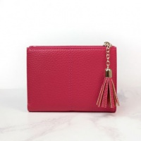 Faux Leather Compact Purse in Pink by Peace of Mind