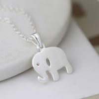 Sterling Silver Elephant Necklace by Peace Of Mind