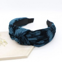 Teal Blue Crushed Velvet Headband by Peace Of Mind